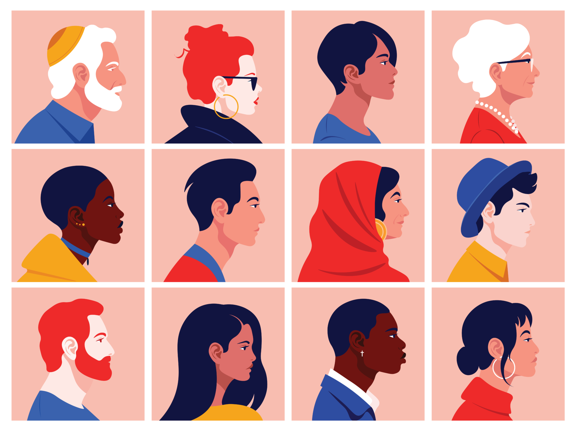 Care equity illustration of diverse patients